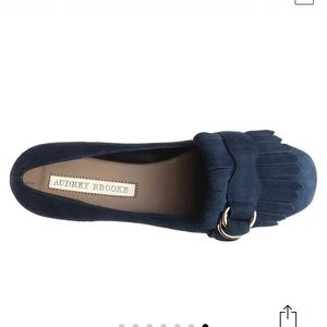 Audrey Brooke leather suede Flats